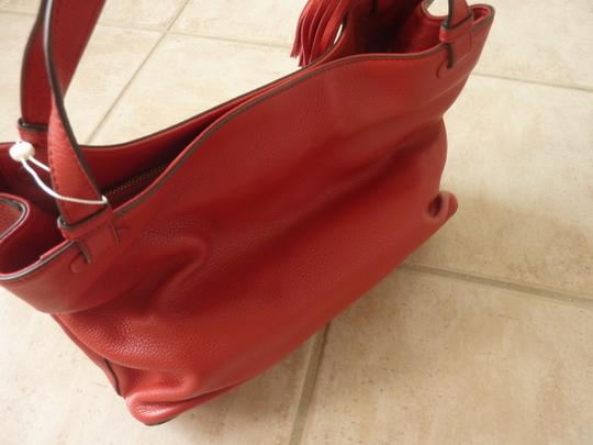 Tory Burch Leather Casual Logo Tote in Red Image 9