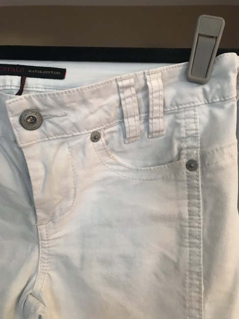 Buffalo David Bitton Cropped Pants Capris Very light blue almost white Image 1