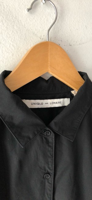 Uniqlo and Lemaire Button Down Shirt black Image 1