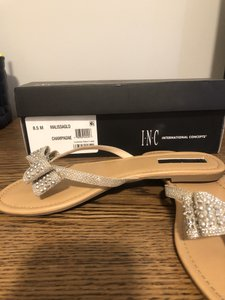 INC International Concepts Champagne Malissa Sandals Size US 8.5 Regular (M, B)