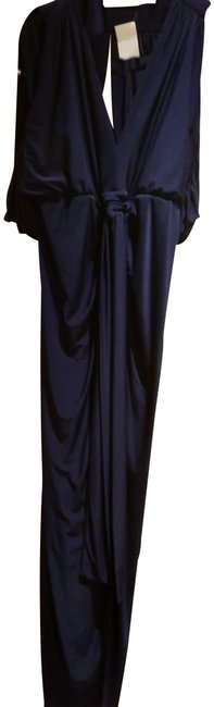 Preload https://img-static.tradesy.com/item/25253964/t-bags-los-angeles-dark-navy-blue-s-tbagslosangeles-draped-tie-front-open-shoulder-long-night-out-dr-0-1-650-650.jpg