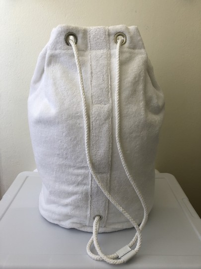 Chanel Towel Tote Terrycloth White Beach Bag Image 2