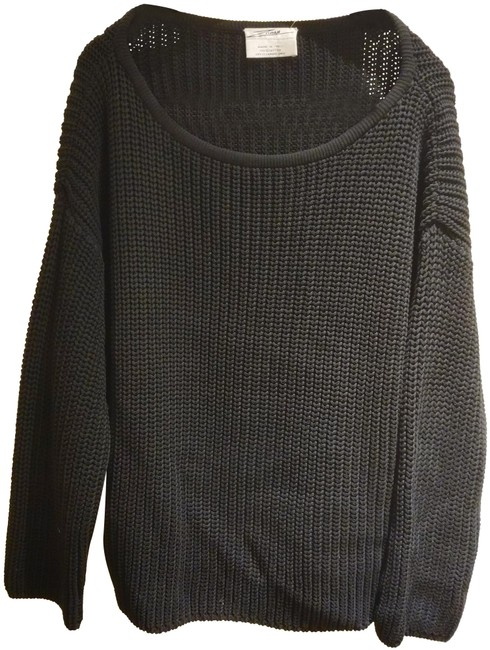 Preload https://img-static.tradesy.com/item/25253979/zoran-made-in-italy-thick-knit-cotton-black-sweater-0-1-650-650.jpg