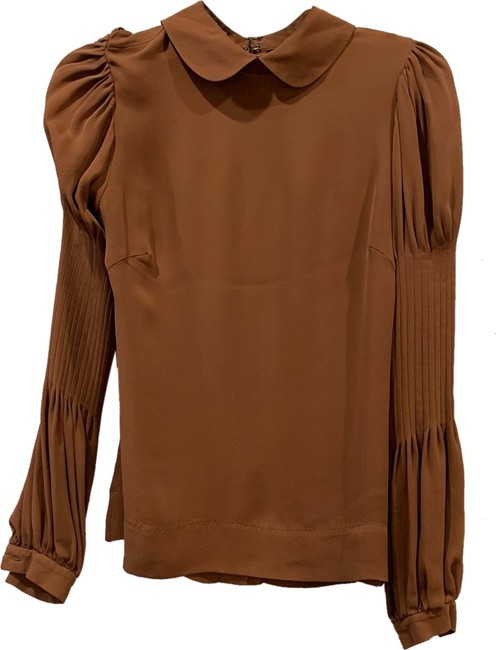 By Malene Birger Silk Hip Detailing Top brown Image 0