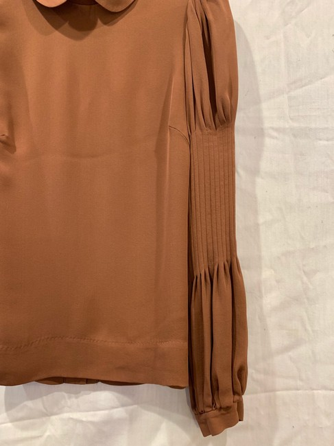 By Malene Birger Silk Hip Detailing Top brown Image 1