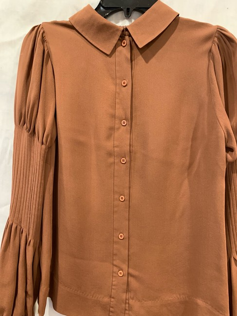 By Malene Birger Silk Hip Detailing Top brown Image 4