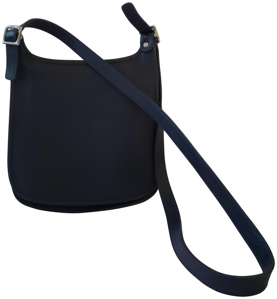 bd01f5bf13a8 Coach Navy Blue Leather Cross Body Bag - Tradesy