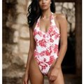 Beach Bunny Red XS Samantha Swimsuit Bathsuit Floral White One-piece Bathing Suit Size 0 (XS) Beach Bunny Red XS Samantha Swimsuit Bathsuit Floral White One-piece Bathing Suit Size 0 (XS) Image 3