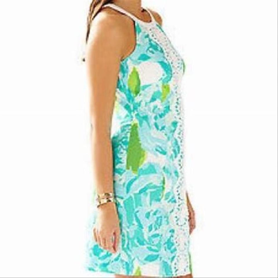61da2707b406c3 Lilly Pulitzer Poolside Blue Pearl Shift First Impressions Short Casual  Dress Size 00 (XXS) - Tradesy