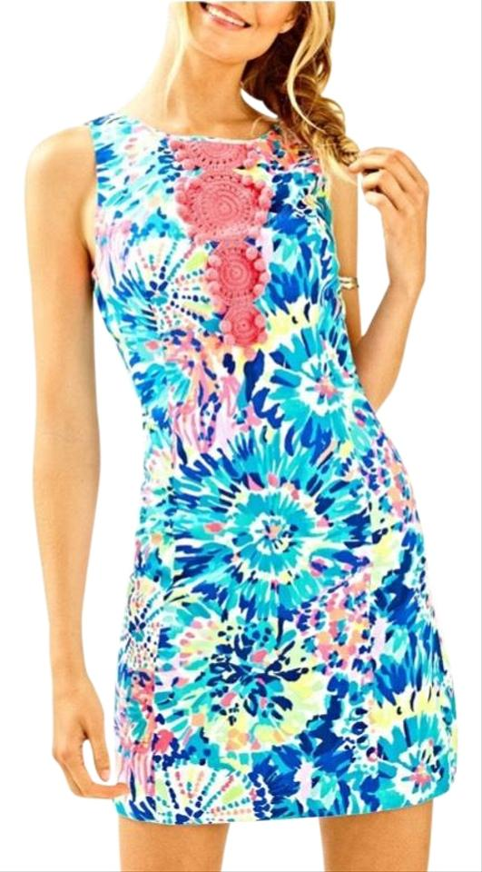 a2d41184a8761a Lilly Pulitzer Adara Shift Multi Dive In Short Casual Dress Size 00 ...