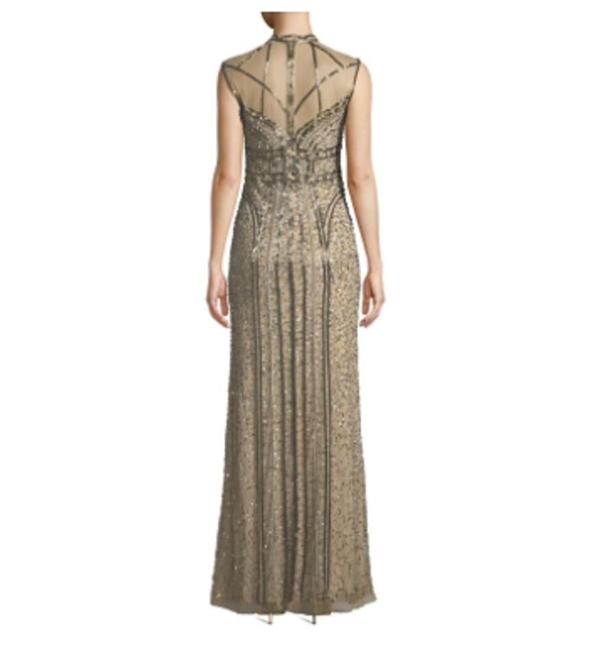 4fe8a17bd4df5 Parker Sand Izzy Dazzling Izzy Features Intricate Art Deco-inspire Long  Formal Dress Size 8 (M) - Tradesy
