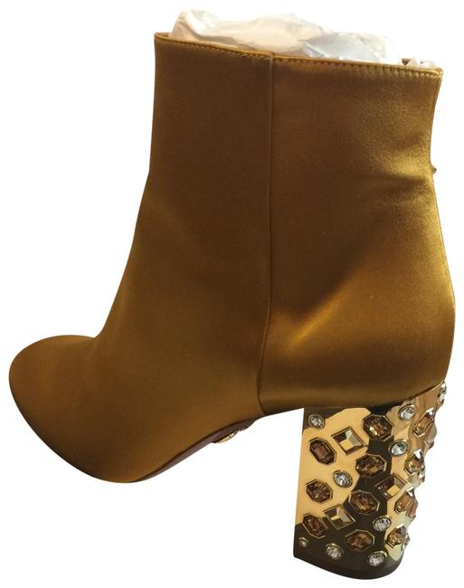 Aquazzura Amber/Gold Party Boots/Booties Size US 10.5 Regular (M, B) Aquazzura Amber/Gold Party Boots/Booties Size US 10.5 Regular (M, B) Image 1