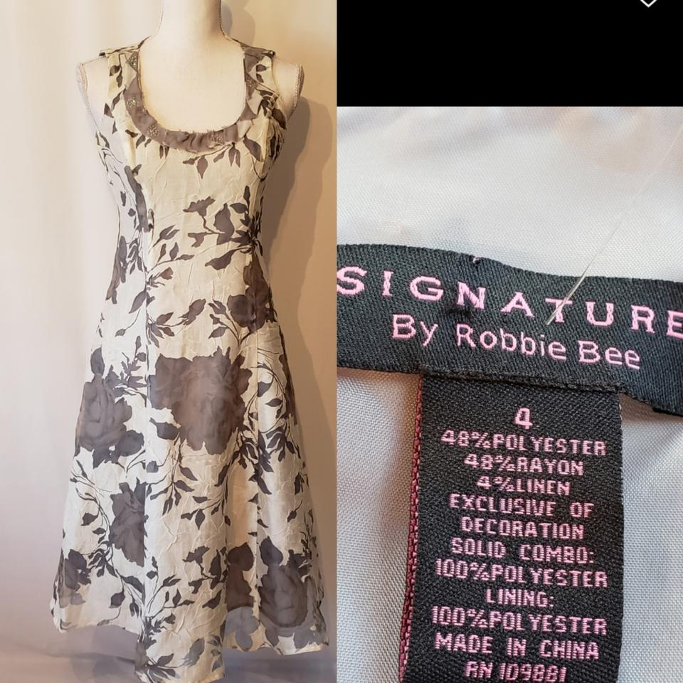 cd1a42aa41 Signature by Robbie Bee Spring Mid-length Cocktail Dress Size 4 (S ...