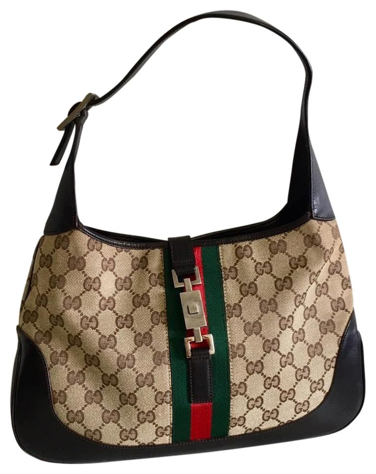 6f86da9d308818 Gucci Shoulder Jackie Jackie-o Hobo/Shoulder Monogram Brown Canvas ...