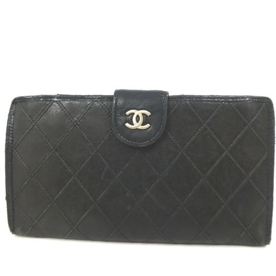 Chanel Auth Chanel Pico Roll Lambskin Wallet #455C10102 Image 1