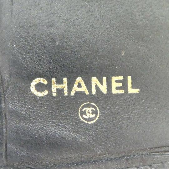 Chanel Auth Chanel Pico Roll Lambskin Wallet #455C10102 Image 10