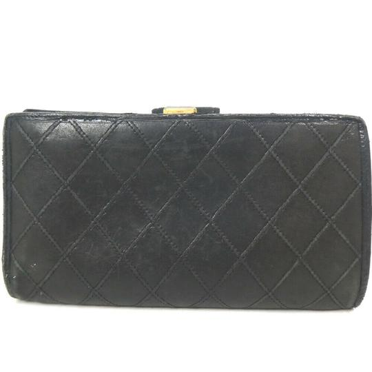 Chanel Auth Chanel Pico Roll Lambskin Wallet #455C10102 Image 2