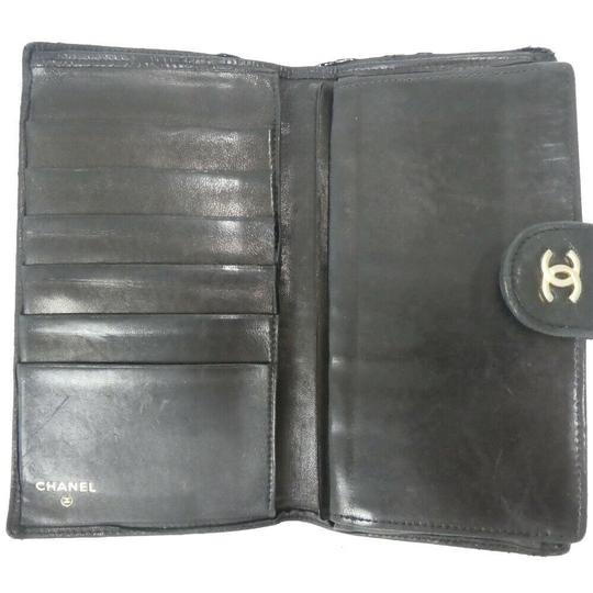 Chanel Auth Chanel Pico Roll Lambskin Wallet #455C10102 Image 3
