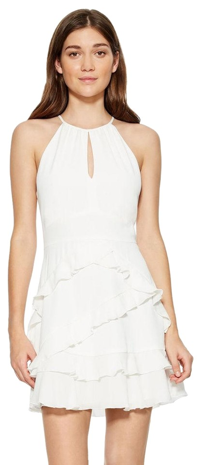 c52f3ed3dca491 Parker Ivory/White Ruffle Phoenix Combo Short Cocktail Dress Size 2 ...