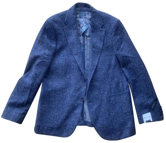 Tailorbyrd Collection Slim Fit Blazer 40r Blue Wool Blend Patch Pocket Button-down Top Size OS (one size) Tailorbyrd Collection Slim Fit Blazer 40r Blue Wool Blend Patch Pocket Button-down Top Size OS (one size) Image 1