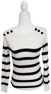 INC International Concepts Striped Decorative Buttons Sweater