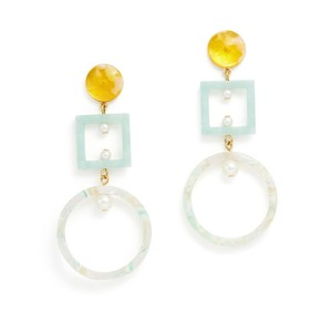 Lele Sadoughi Geometric Cage Hoop Earrings