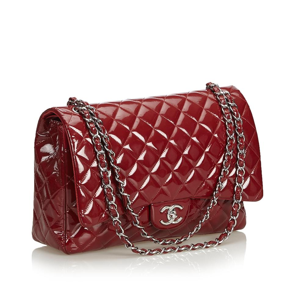 c279eb869387 Chanel Classic Flap Classic Maxi Double France Red Patent Leather ...