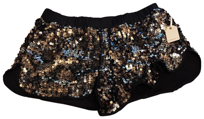 Item - Black and Copper Sequined Shorts Size 4 (S, 27)