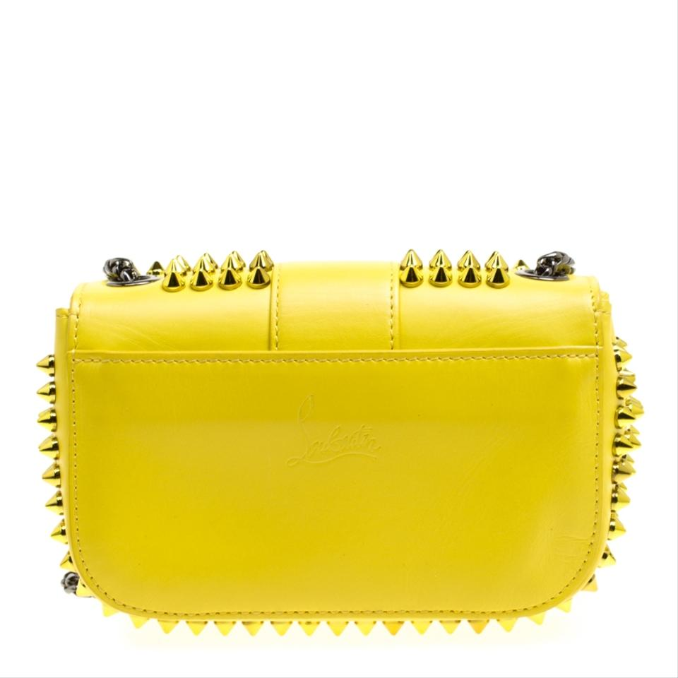 1d44602271f Christian Louboutin Crossbody Mini Spiked Sweet Charity Yellow Leather  Shoulder Bag 57% off retail