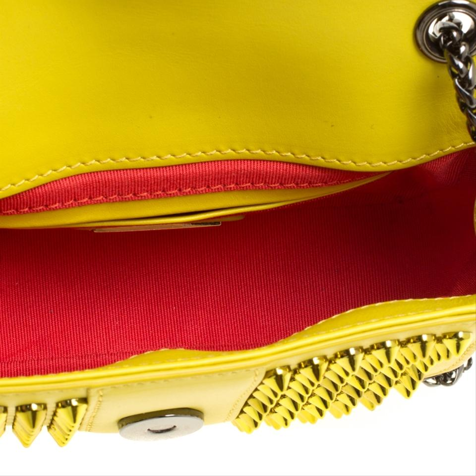 1f081fb1272 Christian Louboutin Crossbody Mini Spiked Sweet Charity Yellow Leather  Shoulder Bag 57% off retail