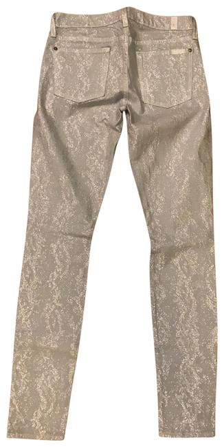 Item - Silver Coated Skinny Jeans Size 4 (S, 27)