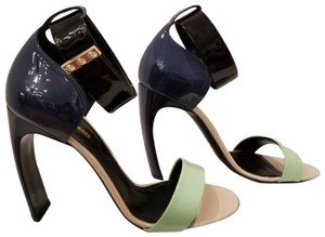 Nicholas Kirkwood Black, blue, seafoam green Pumps