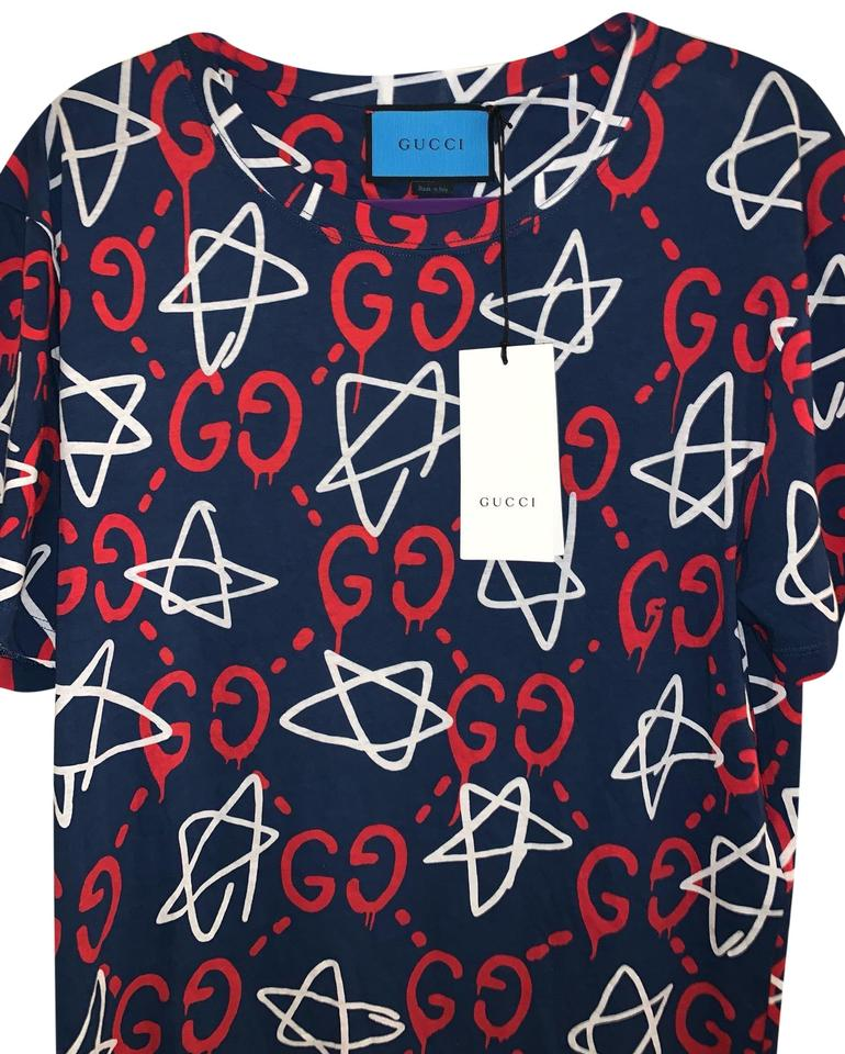 334d3bdf9 Gucci Blue with Red and White Design Style Number: 457936 Tee Shirt ...
