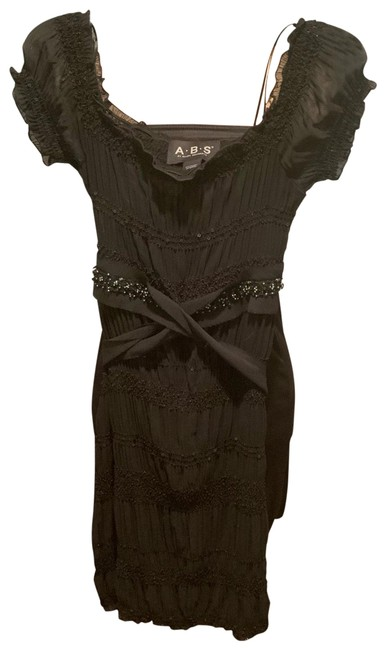 Item - Black 447350 Mid-length Cocktail Dress Size 00 (XXS)