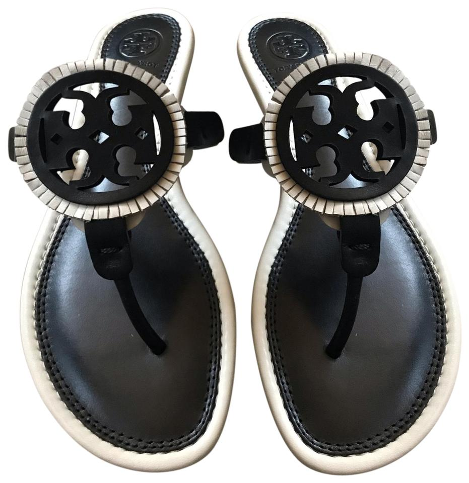 f1397ce10 Tory Burch Black 46267 Miller Fringe Sandals. Size  US 8 Regular (M ...