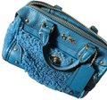 coach Satchel in Aqua Blue