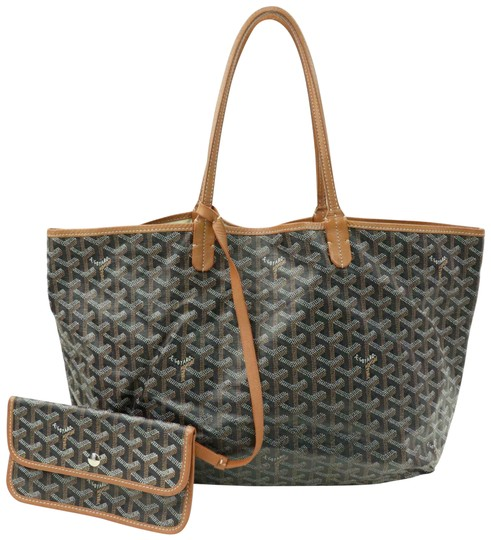 Preload https://img-static.tradesy.com/item/25257136/goyard-brown-chevron-goyardine-st-louis-with-pouch-870507-black-coated-canvas-tote-0-1-540-540.jpg
