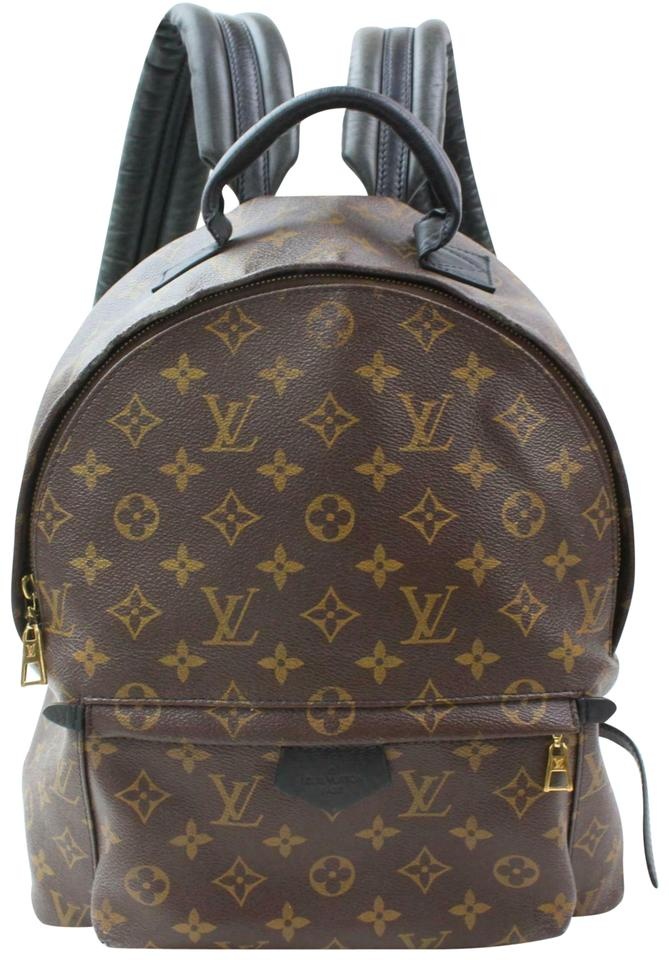 31cb230bfb39 Louis Vuitton Palm Springs Monogram 870508 Brown Coated Canvas ...