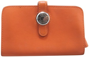 Hermès Togo Dogon Orange Clemence Compact Wallet