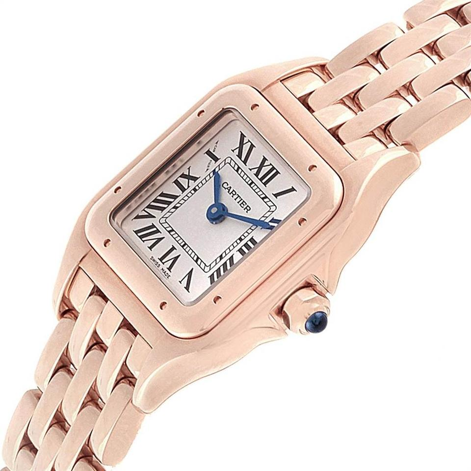 Cartier Silver Panthere 18k Rose Gold Small Ladies Wgpn0006 Unworn