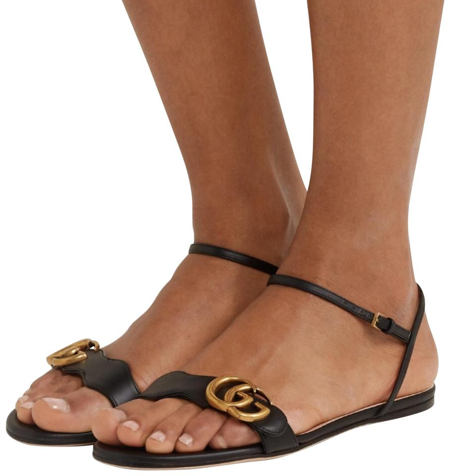 528a1efd30b Gucci Marmont Leather Sandals Size EU 36.5 (Approx. US 6.5) Regular ...
