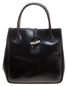 Longchamp Leather Tote in Black