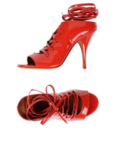 Givenchy Strappy Heels Patent Leather Heels Stilettos Red Pumps