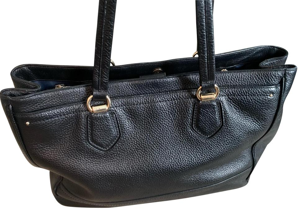 72e8543b11 Cole Haan Womens Briefcase Tote Black Leather Laptop Bag - Tradesy