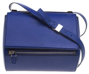 Givenchy Leather Suede Satchel in Blue