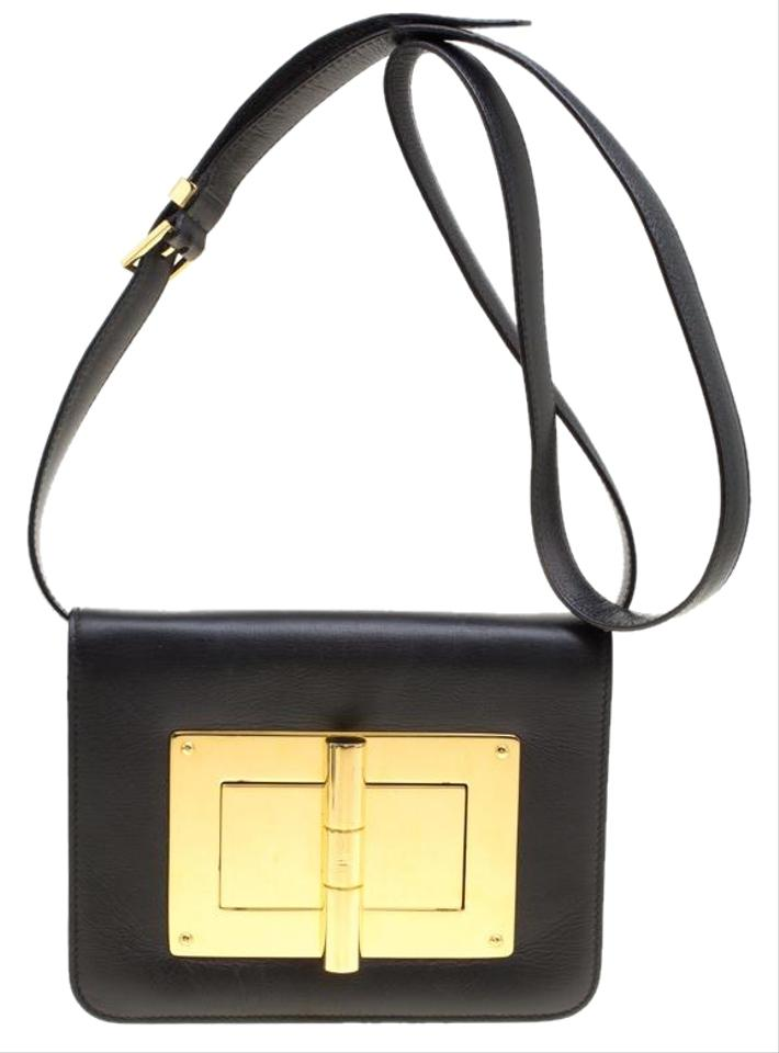 20dbc3a80 Tom Ford Small Natalia Black Leather Cross Body Bag - Tradesy