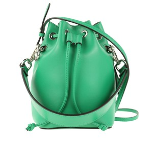 Fendi Rockstud Studded Classic Quilted Fanny Satchel in Green