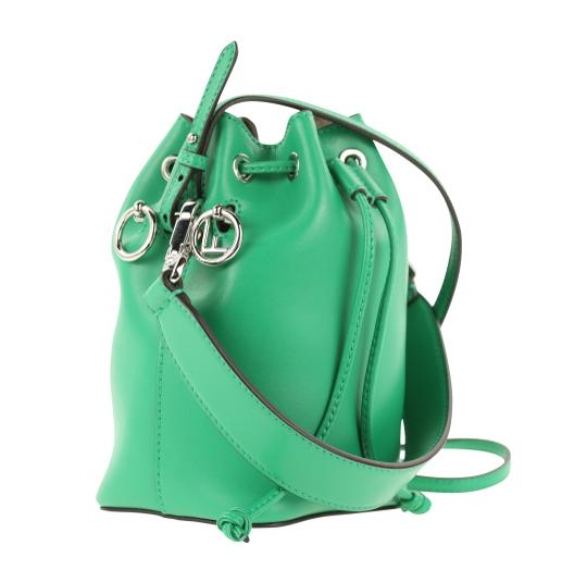 Fendi Rockstud Studded Classic Quilted Fanny Satchel in Green Image 1