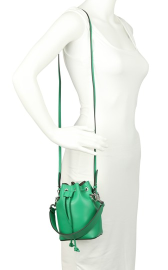 Fendi Rockstud Studded Classic Quilted Fanny Satchel in Green Image 10