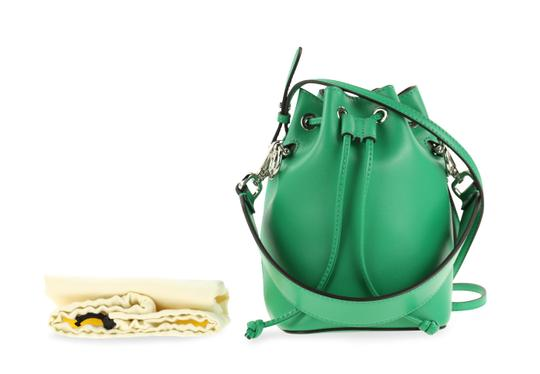Fendi Rockstud Studded Classic Quilted Fanny Satchel in Green Image 11